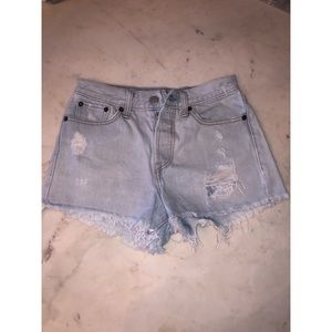 Levi's High Waisted Denim Shorts